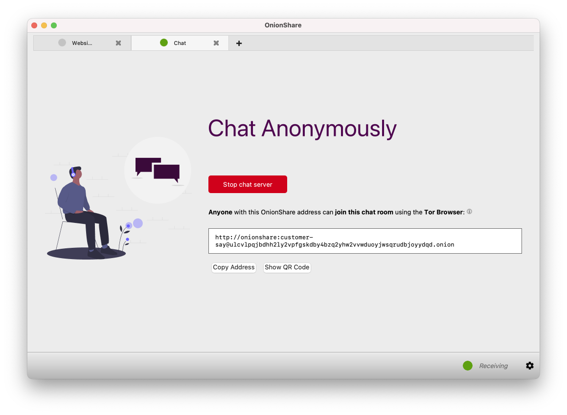 OnionShare Ephemeral Chat