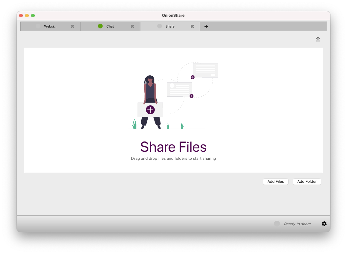 OnionShare share files