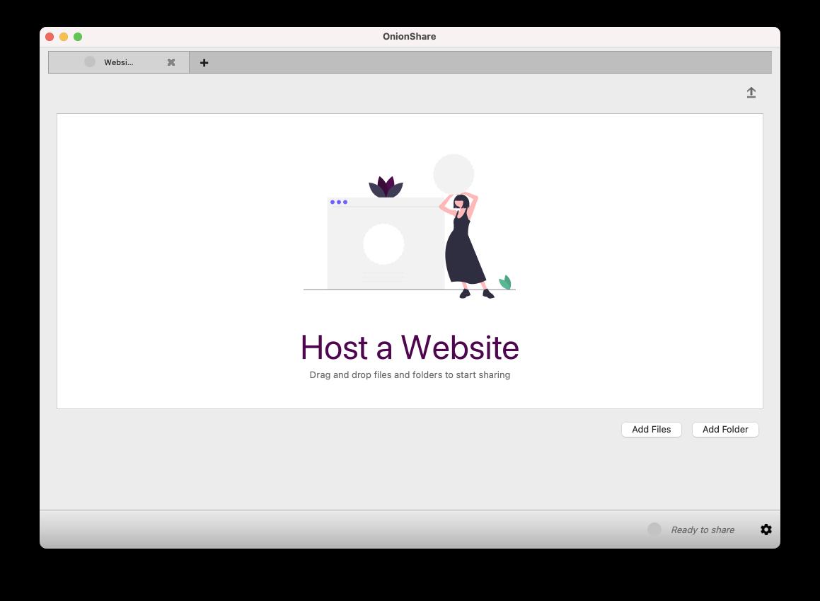OnionService Host a website